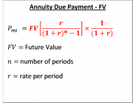 Annuity Due Payment  FV