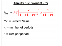 Annuity Due Payment  PV
