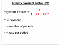 Annuity Payment Factor - PV