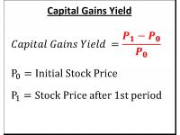 Capital Gains Yield