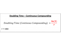 Doubling Time  Continuous Compounding