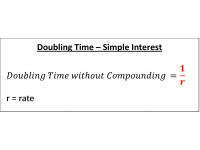 Doubling Time  Simple Interest