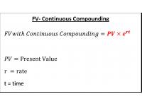 FV Continuous Compounding