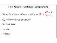 FV of Annuity  Continuous Compounding