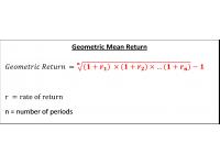 Geometric Mean Return