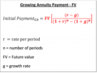 Growing Annuity Payment  FV