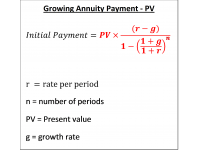 Growing Annuity Payment  PV
