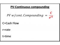 PV Continuous compounding
