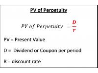 PV of Perpetuity
