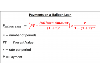 Payments on a Balloon Loan