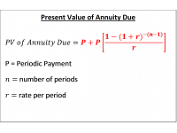 Present Value Annuity Due
