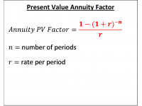 Present Value Annuity Factor