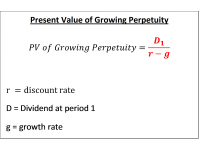 Present Value of Growing Perpetuity