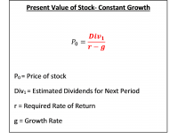 Present Value of Stock- Constant Growth
