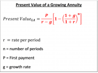 Present Value of a Growing Annuity