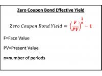 Zero Coupon Bond Effective Yield