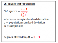 Chi Square Test of Variance (Test Statistic)