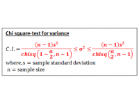 Chi Square Test of Variance (Confidence Interval)