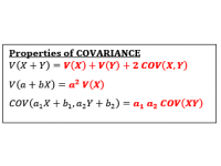Covariance Properties