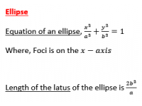 Ellipse Equations