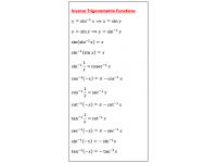 Inverse Trigonometric Functions 1