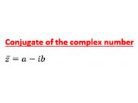 Complex Number Conjugate