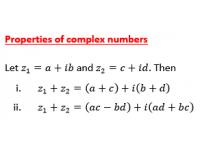 Complex Number Properties