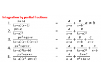 Integration by Partial Functions