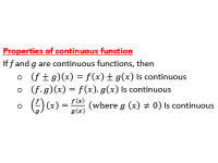 Continuous Function Properties