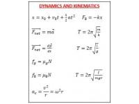 Dynamics and kinematics