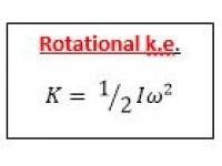 Rotational k.e.