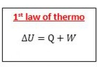 1st law of thermo