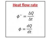 Heat flow rate