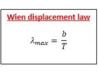 Wien displacement law