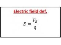 Electric field def.