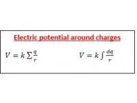 Electric potential around charges