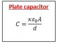 Plate capacitor