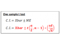 T test for one sample (Confidence Interval)