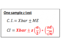 Z test for one sample (Confidence Interval)