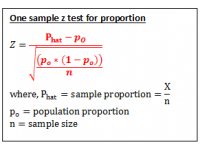 Z test for proportions (Test Statistic)