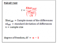 T test for Paired Data (Test Statistic)