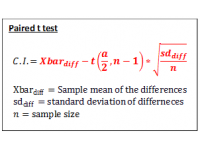 T test for Paired Data (Confidence Interval)