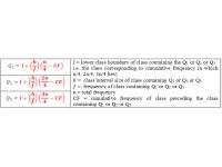 Quartile for Grouped Data