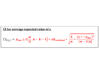 Confidence Interval (Regression Equation)