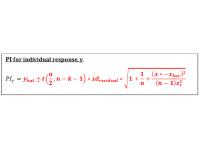 Prediction Interval (Regression Equation)