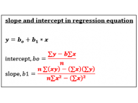 Slope and Intercept for Regression Equation