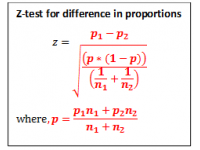 Z test for Difference in Proportions (Test Statistic)