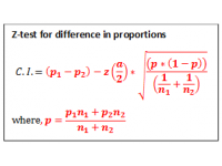 Z test for Difference in Proportions (Class Interval)